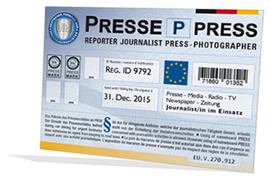 PKW Presseschild